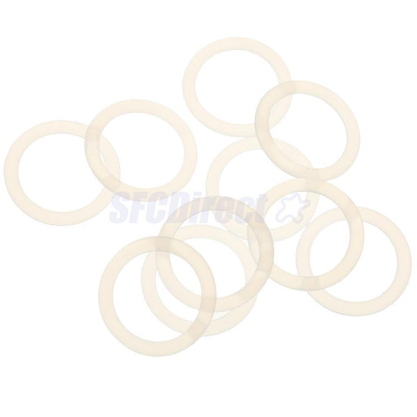 3 x10Pcs Baby Pacifier Adapter Holder O Ring for Dummy Rings Napkin Clear