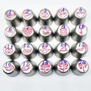 20pc Cake Decorating Tips Kit Bags Set Tools Nozzles Cupcakes Cookies Pastry