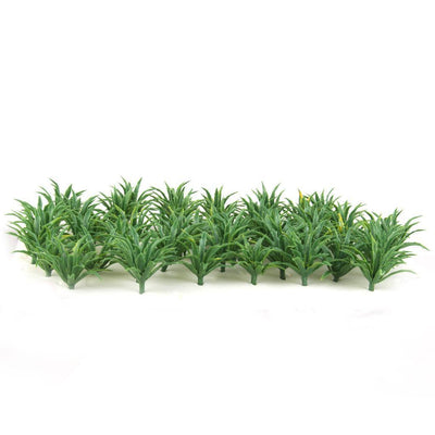 50pcs Green Sword Grass Ground Cover for Train Street Park Layout DIY 2.5CM