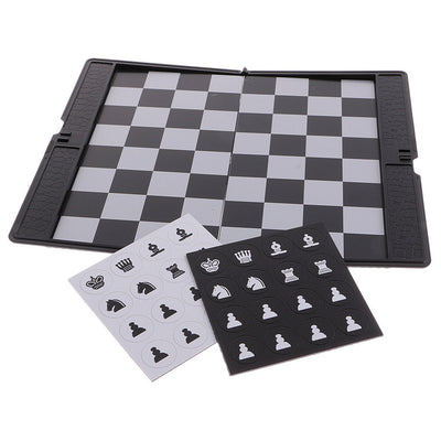 Foldable Mini Travel Magnetic Chess Folding Portable Wallet Set Board Games