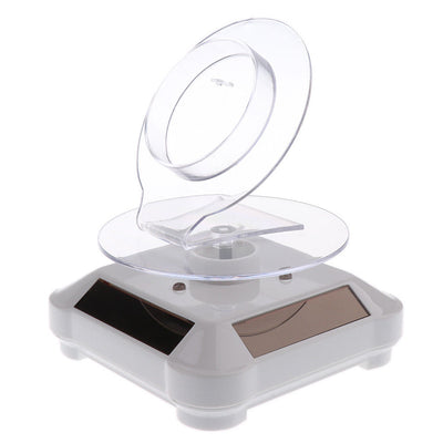Solar Powered Rotating Rotary Watch Bracelet Display Stand Turntable - 3pcs