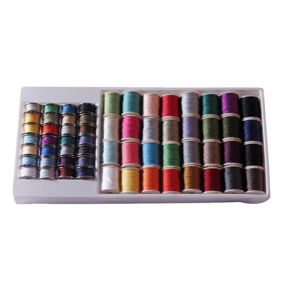 60 Spools Mixed Colors Sewing Threads Set Sewing Machine Bobbins All Purpose