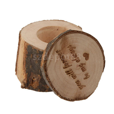 """you will forever be my always"" Rustic Wood Ring Bearer Pillow Box Wedding"