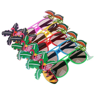 1x Hawaiian Novelty Fun Party Flamingos Sunglasses Shadding Glasses Costume