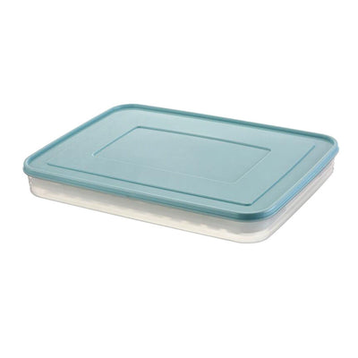 Kitchen Plastic Food Storage box Sealed with a Ice Lattice and lid Blue
