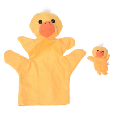 Yellow Duck Hand Puppet Finger Puppet WS T6Y9 N4L4