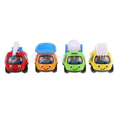4PCS Pull Back Car Assorted Vehicle Truck Toys for Kids Toddler Party Favors