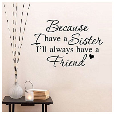 """Because I have"" living room bedroom decorative wall stickers:black Y9Z7"