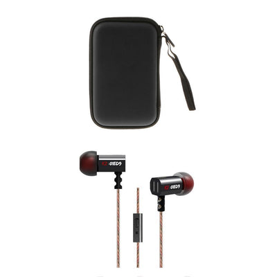 Wired In-Ear Headset Super Bass Sports Stereo Sound with Mic & Carrying Case