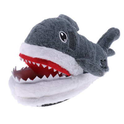 Funny Cute Shark Warm Soft Plush Slippers Home Winter Slippers Novelty Gift