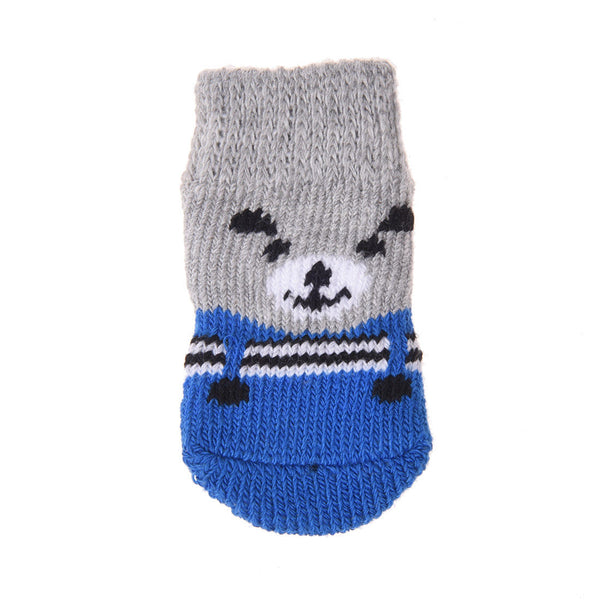 Pet Dog Socks with Non-slip Bottom Size: 3.6 inches long x 1.9 inches wide CS