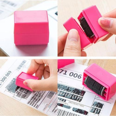 1Pcs Guard Your ID Roller Stamp SelfInking Stamp Messy Code Security Office HOT