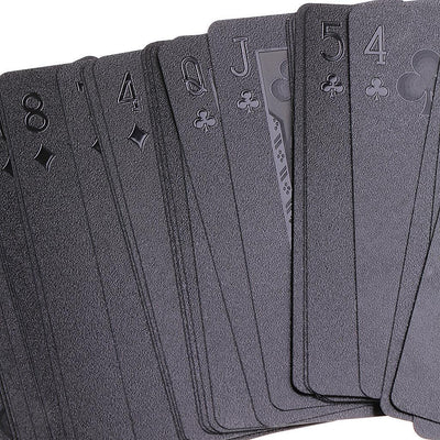 Black Waterproof Playing Cards Deck Magic Card Plastic Poker Cards Set #2