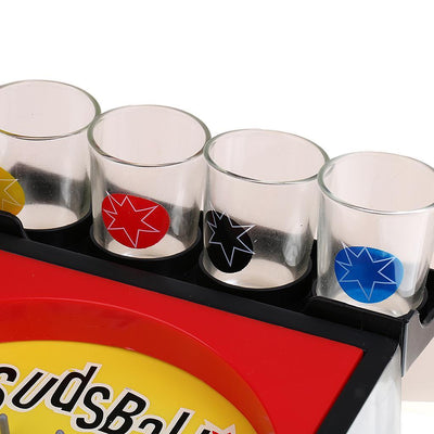 1x Sudsball Drinking Game Pinball Machine Set with Shot Glass Party Supplies