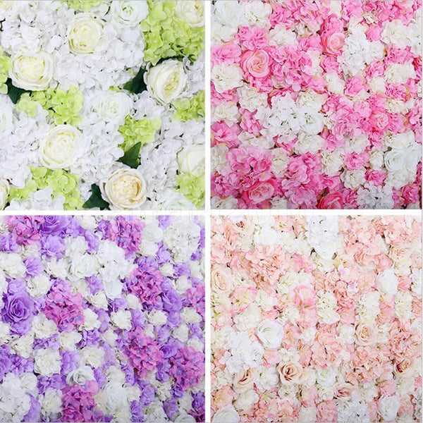 Removable Artificial Flower Wall Panel Wedding Venue Decor Photo Props Blue