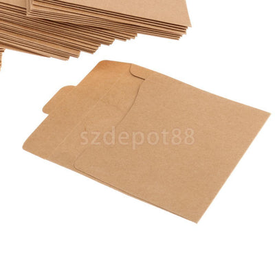 100 PCS Recycled Kraft Card Board CD DVD Sleeve/Wallet/Cover