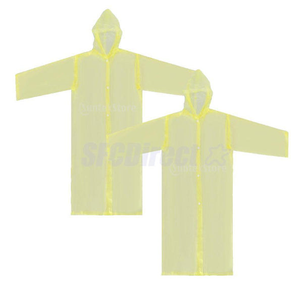 Unisex Kids Children Rain Poncho Portable Raincoat with Hoods and Sleeves YL