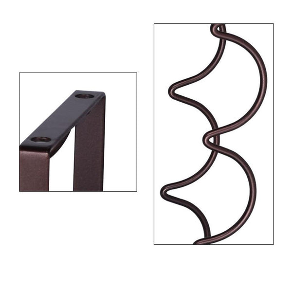 Wine Rack Table Stand Hanging 4 Bottle Shelf Iron Holder Display Storage Bar