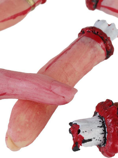 Rubber Bloody Gory Severed Body Part 0f 5 Finger for Halloween Decoration Prop
