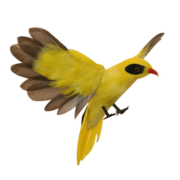 True to Nature Oriole Flying Artificial Feather Bird Handmade Christmas Gift