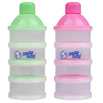 2Pack Stackable Non-Spill Baby Milk Powder Formula Dispenser/Snack Container