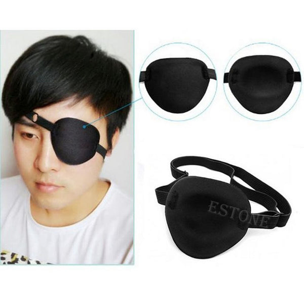 Nice Medical Use Concave Eye Patch Foam Groove Adjustable Strap Single Eyeshades