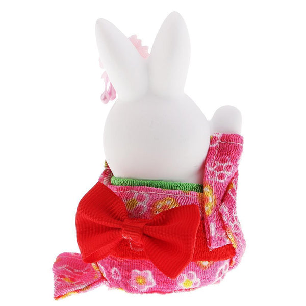Japanese Kimono Rabbit Attracting Luck Home Office Wedding Car Decor Gift #6