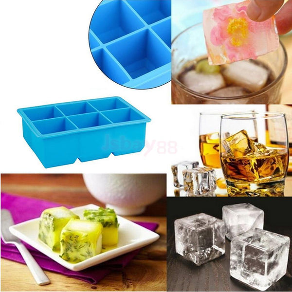 Silicone Ice Cube Tray Maker Mould Chocolate Novelty New Ice Cube Mold #6