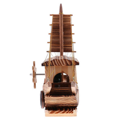Handcrafts Wooden Ship Music Box Wooden Sailing Boat Desk Decor - for Alice