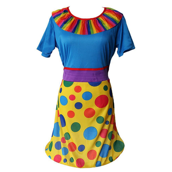 Circus Clown Costume Ladies Halloween Christmas Carnival Party Fancy Dress