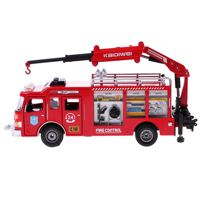 1/50 Fire Engine Truck Crane Fire Rescue Car for Child Kids Pull Push Toys