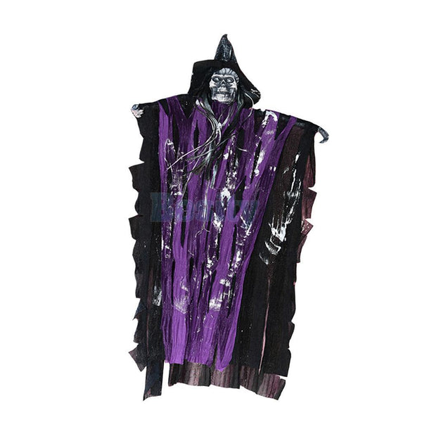 Hanging Skeleton Haunted Witch Ghost Halloween Party Prop Decoration -Purple