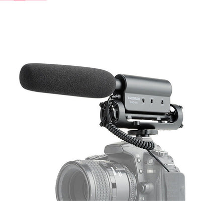 External Stereo Photography Interview Microphone for Canon Nikon DSLR & DV