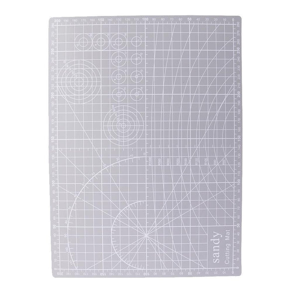 A4 Double Sided Cutting Mat Cutting Board for Patchwork Craft 30x22cm Grey