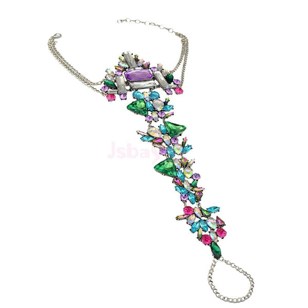 Bohemia Jewelry Party Accessories Multicolor Crystal Tassels Beach Anklets