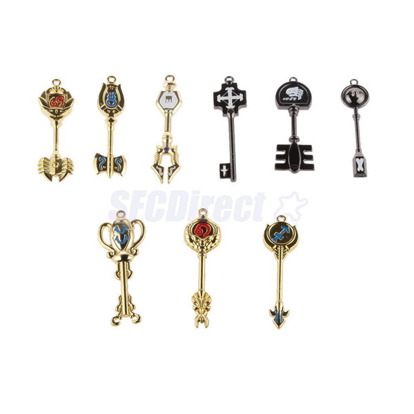 Fairy Tail Lucy Celestial Zodiac Spirit Gate Keys 18pcs Necklace Pendant