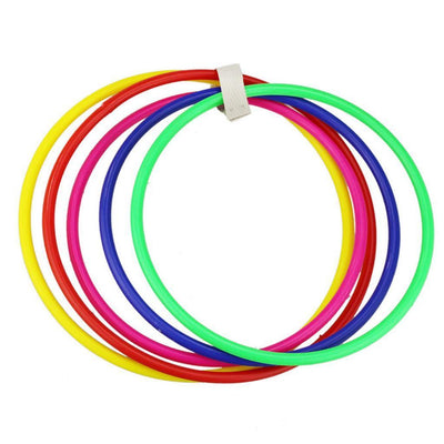 Plastic Ring Toss Quoits Hoopla Throw Game Kids Family Fun Toys Set Gift