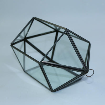 Irregular Geometric Terrarium Planter Hanging Glass Vase Container Decor #12
