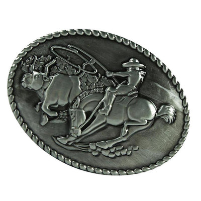 2 Pieces Male Cowboy Oval Belt Buckles Cool Decoration Western Jewelry