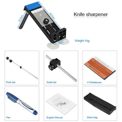 Sharpener System 4 Stones Professional Fix-Angle Style Set Kitchen Tools