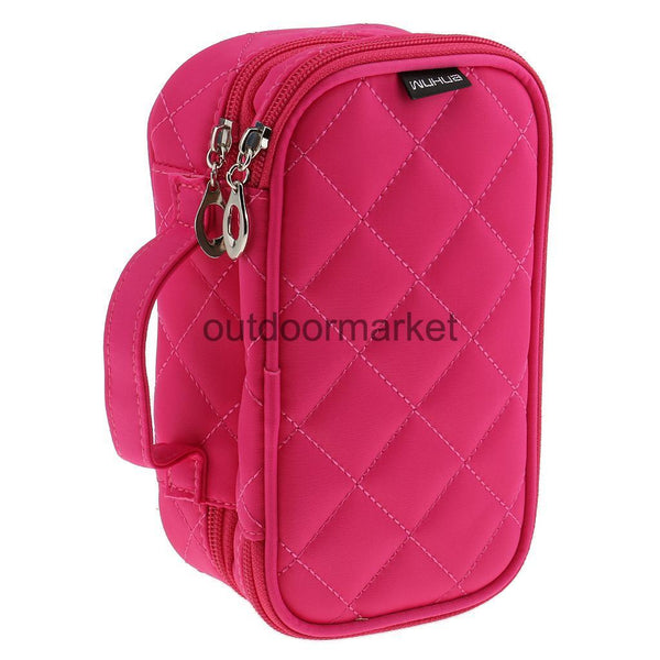 Large & Waterproof Cosmetic Storage Makeup Bag Toiletry Travel Case Rose Red
