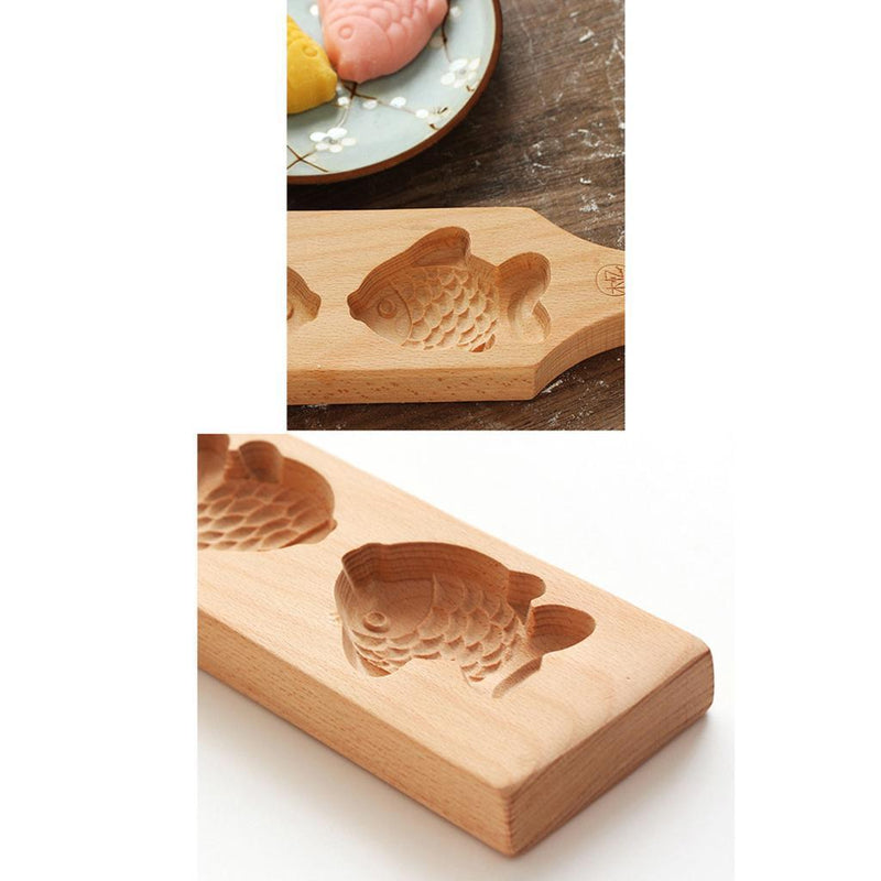 Wooden DIY Mold Christmas Fondant Sugarcraft Cookies Mould Decor Fish Turtle
