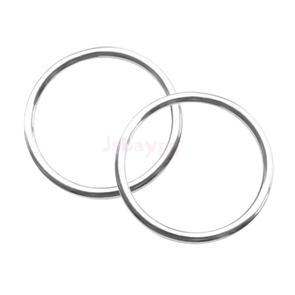 "2pcs 0.16x 1.6"" Polished Smooth Welded 316 Stainless Steel O-ring Round Ring"