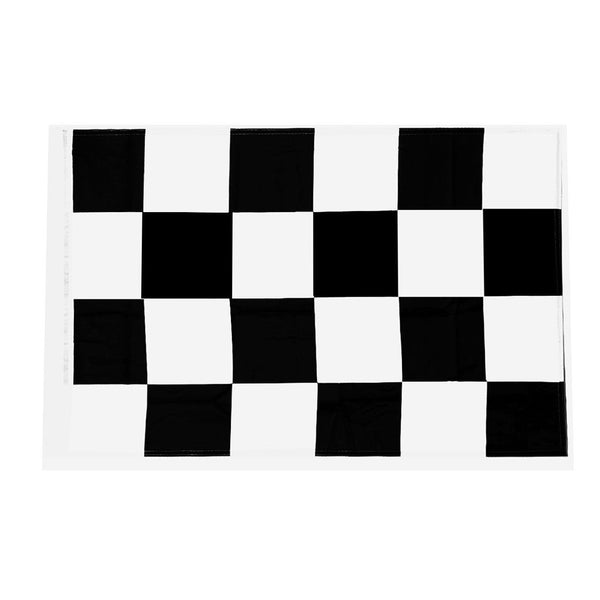 Checkered Flag Black White Racing Flag Polyester Plastic Starting End Flag