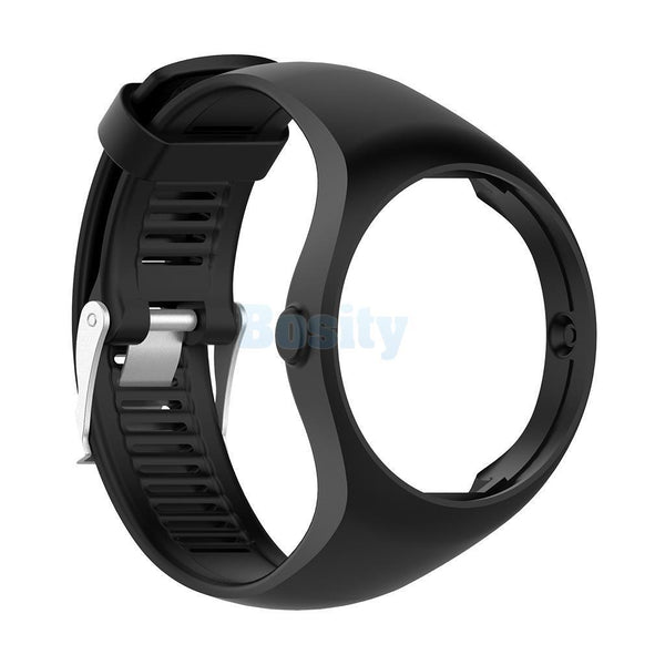 Soft Silicone Strap Wrist Band with Buckle For Polar M200 Smart Watch Black