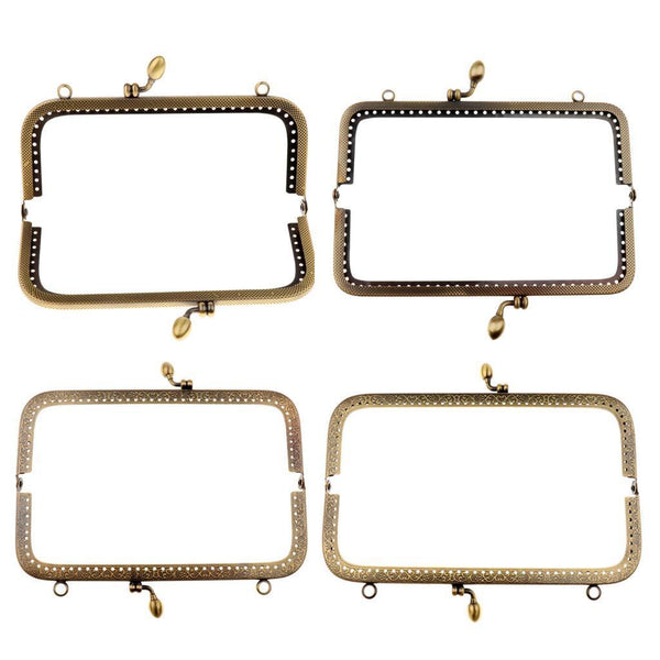 4Pcs Metal Kiss Frame Clasp Lock For Coin Purse Bag Accessories Craft DIY