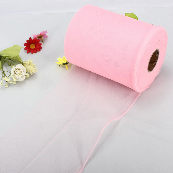 "Soft 6""x100yd Tulle Roll Spool Wedding Decor 6""x300' P J1X9"