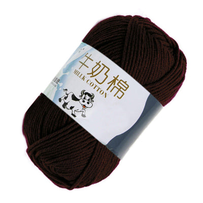 1 group Milk Cotton Yarn For Hand knitting Soft(Brown)Line rough about 2 K8 I1S8