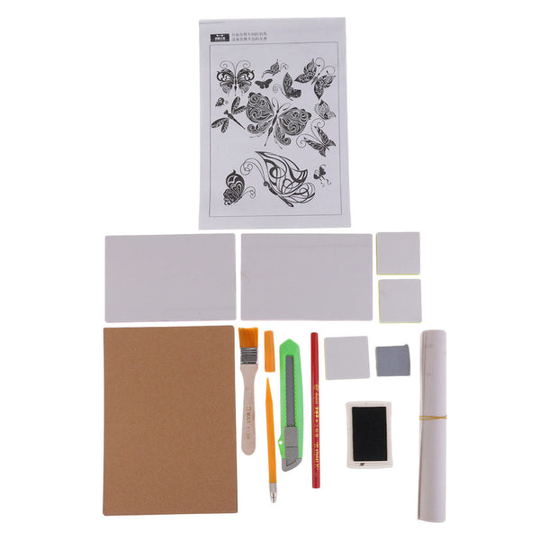 Rubber Stamp Carving Kit Set for Card Making, Kids Toys Craft DIY Project