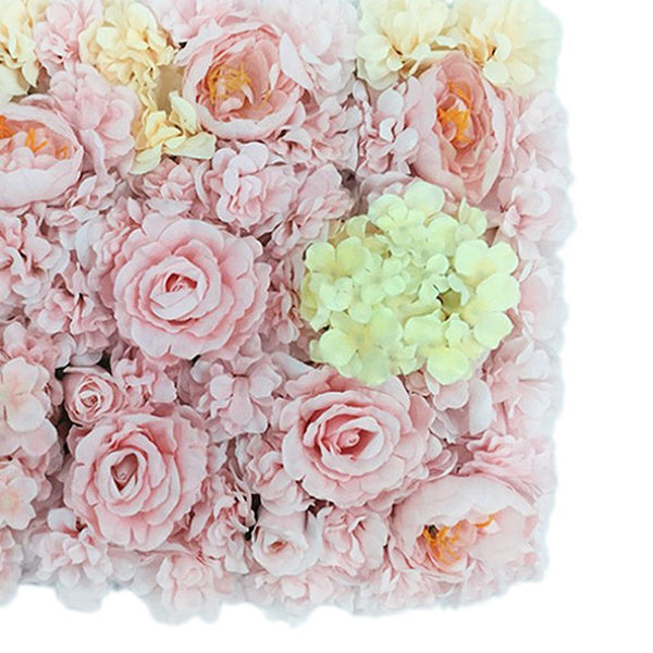 Romantic Artificial Flower Wall Panels Wedding Venue Roses Floral Decor B #5